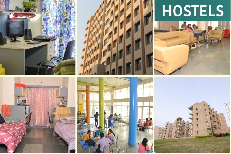 An Image Representing The Collage Of Basic Hostel Amenities.