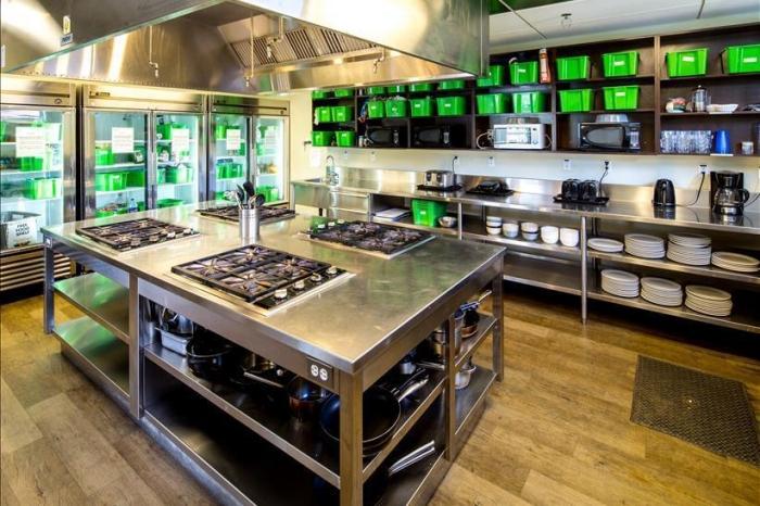 The Hostel Kitchen Has Basic Essentials.